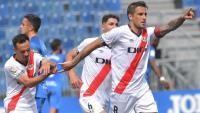 Trejo celebra el 0-2 en el partit a Fuenlabrada