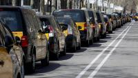 Mobilització del sector del taxi contra el retorn d'Uber el març passat