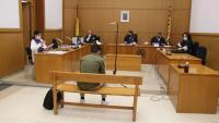 L'acusat, abans d'iniciar-se el judici a la secció segona de l'Audiència de Barcelona, ahir