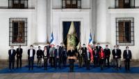 """El president xilè, Sebastián Piñera, en la roda de premsa d'ahir per valorar els resultats de les eleccions per elegir els redactors de la nova Constitució<div class=""""formatfinal""""></div>"""