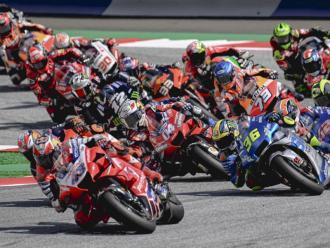 Una imatge de MotoGP en el circuit Red Bull Ring de l'any passat