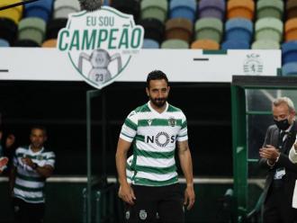 Amorim durant la celebració del títol a l'estadi José Alvalade