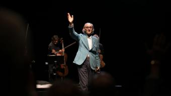 Franco Battiato, durant el seu concert del 2017 a Peralada
