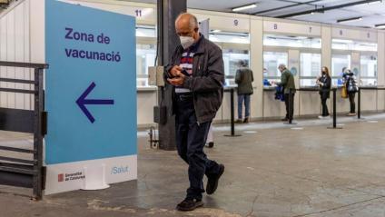 Espai de vacunació a la fira de Barcelona
