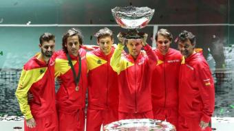 Espanya celebra el títol en la copa Davis del 2019