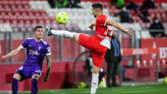Juanpe, autor del gol contra l'Sporting
