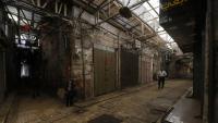 Els carrers de la ciutat de Nablus, a Cisjordània, deserts i amb tot tancat pel seguiment de la vaga, que va ser total