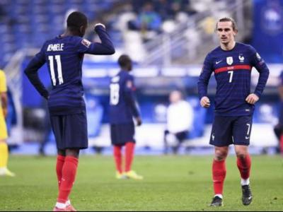 Dembélé i Griezmann amb França