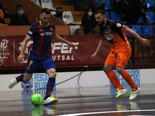 Dyego ha marcat dos gols a la pista del Burela