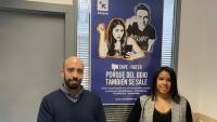 Ángel Ramos i Lisbeth Chourio , que gestiones les xarxes socials d'Accem