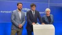Els eurodiputats Comín, Puigdemont i Ponsatí. I Puig, Gabriel i Rovira