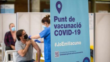 Vacunació al Palau Firal de Girona el mes de maig passat