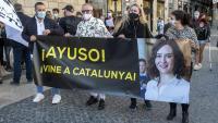 Protesta de treballadors de l'oci nocturn fa un mes a la plaça de Sant Jaume