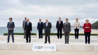 Els líders del G7, més Michel i Von der Leyen, en la foto de família de la cimera que es va celebrar a Carbis Bay, al Regne Unit