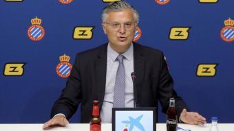 El conseller delegat de l'Espanyol, José María Durán, presentarà demà l'acord amb Reale.