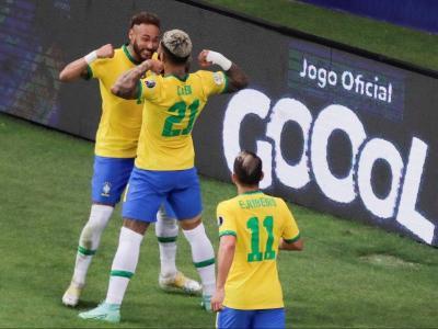 Neymar, en la celebració