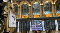 Interior de l'edifici de la Borsa de Madrid