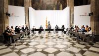 La taula institucional sobre el futur de l'aeroport del Prat, que es va reunir ahir a la tarda, va estar encapçalada pel president Pere Aragonès