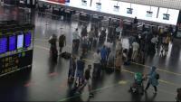 Zona de sortides de la T2Ba l'aeroport del Prat