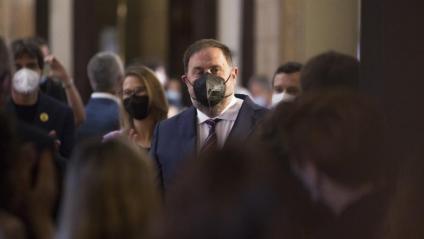 Oriol Junqueras, al Parlament, el dia de la presa de possessió de Pere Aragonès com a president