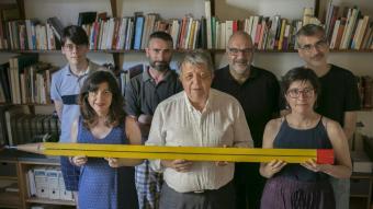 D'esquerra a dreta: Ivan Solivellas, Míriam Martín Lloret, Pau Vidal, Enric Gomà, Magí Camps, Maria Rodríguez Mariné i Rudolf Ortega