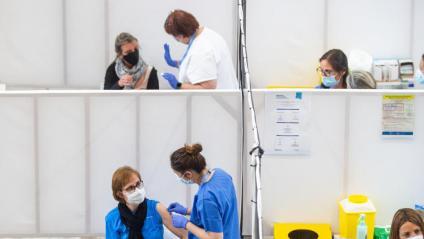 Vacunació massiva a Girona a finals del mes de maig