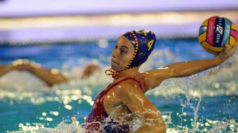 Bea Ortíz , autora de quatre gols contra Grècia