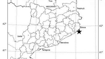 Terratrèmol de magnitud 2,3 davant la costa del Baix Empordà
