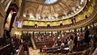 Imatge de l'hemicicle del Congrés ahir abans de l'inici de la sessió plenària
