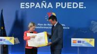 Von der Leyen, cap de la Comissió Europea, amb Sánchez, ahir a Madrid
