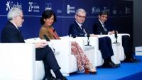Ana Botín, José María Álvarez-Pallete i Pablo Isla, en un diàleg moderat pel vicepresident del Cercle d'Economia, Marc Puig