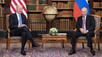 Biden i Putin durant la reunió d'ahir a Ginebra