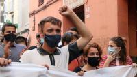 Vivet, en la manifestació en suport seu a Badalona