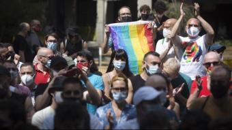 Concentració contra les agressions a Barcelona celebrada a principis de juny