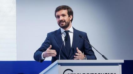 El líder del PP, Pablo Casado, al Cercle d'Economia
