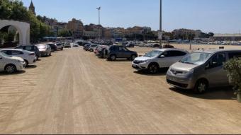 L'apcarament de la platja Gran de Palamós.