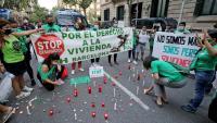Protesta contra els desnonaments a la delegació del govern espanyol a Barcelona