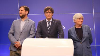Comín, Puigdemont i Ponsatí a la rdp després que el TGUE concedís cautelars sobre la seva immunitat