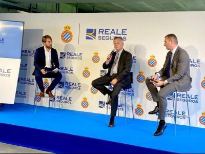 Imatge de l'acte de presentació de 'Reale Seguros' presentat avui al RCDE Stadium.