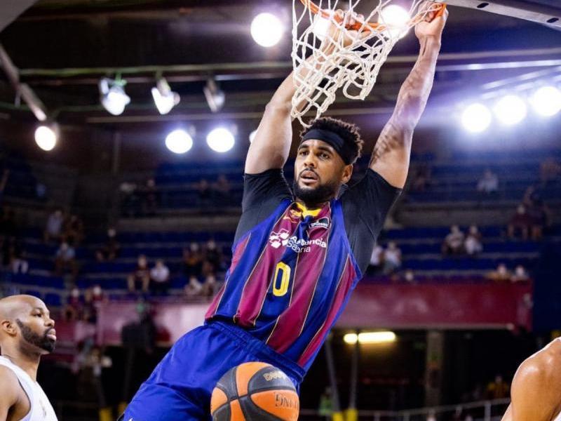 Eufòria del Barça després d'aconseguir la lliga ACB set temporades després