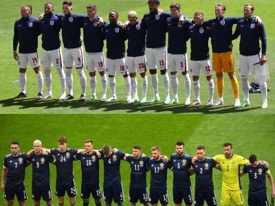 Els onzes d'Anglaterra i Escòcia de la primera jornada de l'Eurocopa