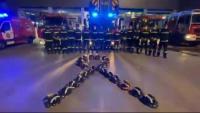 Els Bombers homenatgen el seu company mort a Vilanova