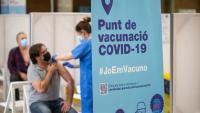 Punt de vacunació contra la Covid a Girona
