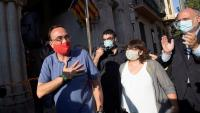 Josep Rull a Terrassa en un acte de rebuda que se li va fer el juliol del 2020