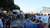 La manifestació, a les portes del CIE de la Zona Franca, que es va fer dissabte passat