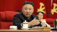Kim Jong-un intervenint en una reunió del Partit dels Treballadors de Corea, dijous a Pyongyang