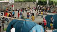 Migrants veneçolans en un centre d'acollida a la localitat colombiana d'Arauquita