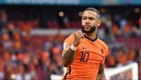 Memphis Depay celebra un gol en l'Eurocopa