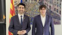El vicepresident del govern, Jordi Puigneró, i el president Carles Puigdemont