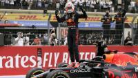 Max Verstappen després de la victòria